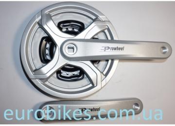 Комплект шатунов PROWHEEL алюм. модель CQ01 24-34-42 зубов (06) , серый