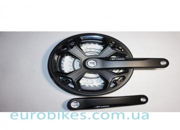 Комплект шатунов PROWHEEL CN02 28-38-48зуб(15) , черный